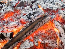 Wood, Fire, Flame, Embers, Burn Royalty Free Stock Images
