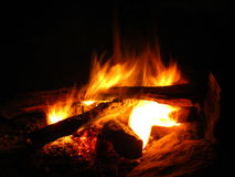 Wood fire, Royalty Free Stock Image
