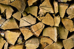 Wood for fire place. Stored hard wood cuted for fire place stock photography