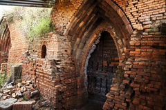 Wood fired clay brick kiln Royalty Free Stock Images