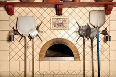 A wood-fired pizza oven Royalty Free Stock Image