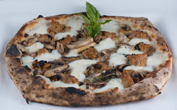 Wood Fired Sausage and Mushrooms Pizza Stock Images
