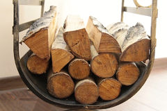 Wood for the fireplace Stock Photos
