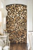 Wood Fire Place Royalty Free Stock Photos