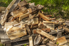 Wood for fireplaces. Royalty Free Stock Images