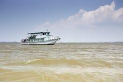 Wood fishing boat. Trip boat trip thai Royalty Free Stock Image