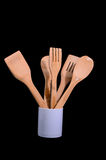 Wood Flatware Stock Photography