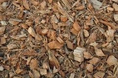 Wood flisor och kokosnötstyckbakgrund Arkivbild