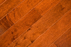 Wood floor. Closeup of wood floor boards Stock Images