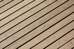 Wood floor background textured. Gray color oblique stripes wood floor at outdoor stock photo
