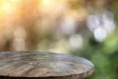 Wood floor and bokeh background royalty free stock photography