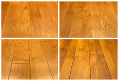 Wood floor collage. Close up Royalty Free Stock Photography