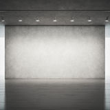 Wood floor and concrete wall Royalty Free Stock Photos