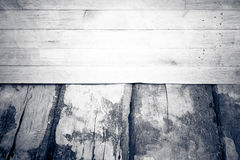 Wood floor and dirty wall surface of wooden Royalty Free Stock Photo