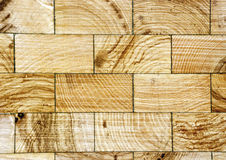 Wood floor with end grain Royalty Free Stock Images