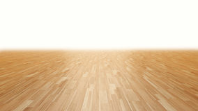 Wood floor fading into white background 3d rendering. Perspective stock illustration