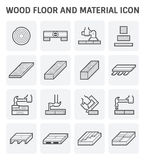 Wood floor icon. Wood floor and material vector icon set design Stock Images