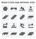 Wood floor icon. Wood floor and material vector icon set design Stock Photo