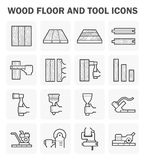 Wood floor icon. Wood floor and tool vector icon sets design Royalty Free Stock Photo