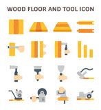 Wood floor icon. Wood floor and tool vector icon sets design Royalty Free Stock Photos