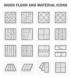 Wood floor icons Stock Images