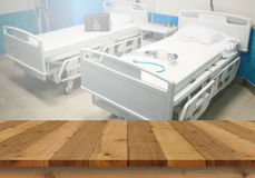 Wood floor and interior hospital background Royalty Free Stock Photography