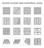 Wood floor icon. Wood floor and material vector icon set stock illustration