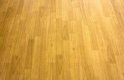 Wood floor parquet hardwood maple basketball court floor viewed Royalty Free Stock Photo