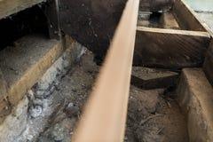 Wood floor repair. Background pattern Royalty Free Stock Photo