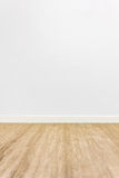 Wood floor room. Wood floor with white wall background room Royalty Free Stock Photos