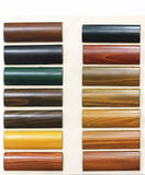 Wood floor samples Royalty Free Stock Image