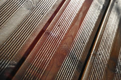 Wood Floor very Wet Royalty Free Stock Image