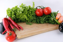 Wood floor and wood background vegetables. Vegetables Food Concept and Decoration Stock Image