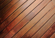 Wood flooring. Amenity Horticulture wood floor is taken as the pathway to sit next to the ground Stock Photography
