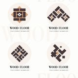 Wood flooring company logos. Wood flooring company logos in flat style for website. Editable vector template of wood. Flooring company logos. Vector company stock illustration