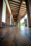 Wood flooring on korean tranditional hut Royalty Free Stock Images