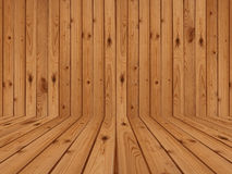 Wood flooring and wall Royalty Free Stock Photo