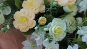 Wood flower box, decor  in photographic studio stock video