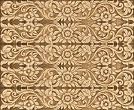 Wood flower carved Royalty Free Stock Images
