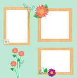 Wood Flower Frame Royalty Free Stock Photos