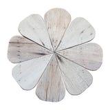 Wood flower isolated Royalty Free Stock Photo