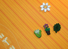 Wood flowers. Art and craft Stock Photography
