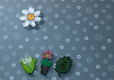 Wood flowers. With nice background stock illustration