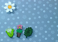 Wood flowers. With nice background Royalty Free Stock Photos