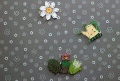 Wood flowers Royalty Free Stock Image