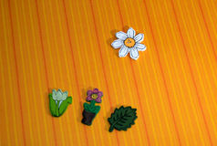 Wood flowers. Orange backgrounds,happy vector illustration
