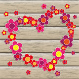 Wood Flowersheart Stock Image