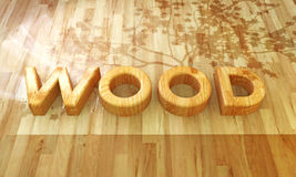 Wood font Royalty Free Stock Image