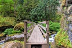 Wood Foot Bridge Over Creek Royalty Free Stock Photography