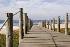 Wood Footpath. Wood passage to Aguda Beach (Portugal Stock Image